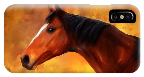 Summers End Quarter Horse Painting IPhone Case