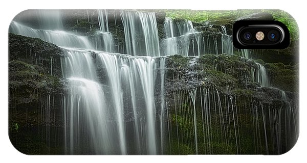 Rights Managed Images iPhone Case - Summertime At Gunn Brook Falls by Mary Lou Chmura