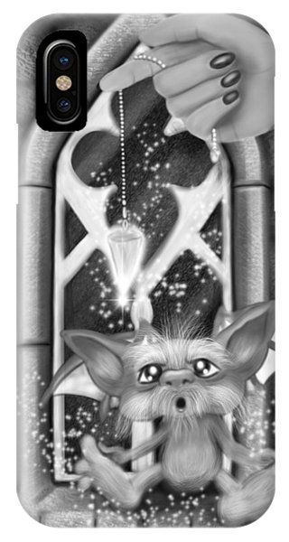 Summoned Pet - Black And White Fantasy Art IPhone Case