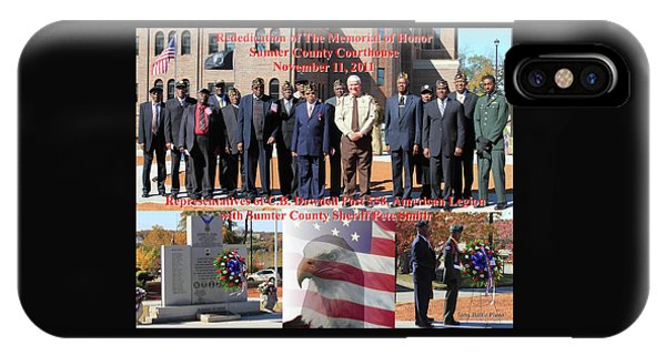 Sumter County Memorial Of Honor IPhone Case