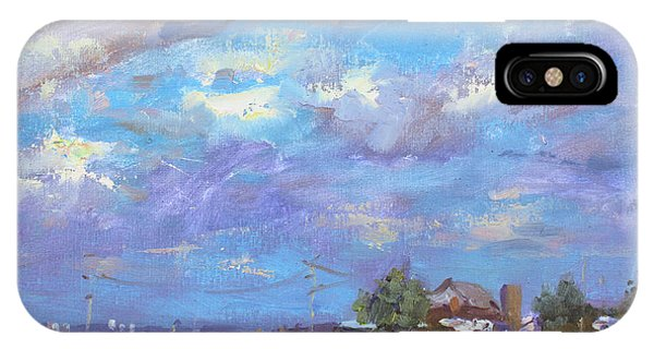 Georgetown iPhone Case - Sun And Clouds Georgetown  by Ylli Haruni