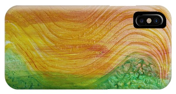 Sun And Grass In Harmony IPhone Case