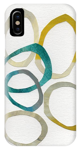 Wood iPhone Case - Sun And Sky- Abstract Art by Linda Woods