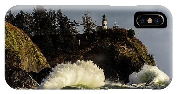 Sun And Surf With Lighthouse IPhone Case