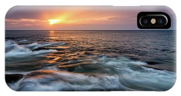 Sun Beams Halibut Pt. Rockport Ma. IPhone Case