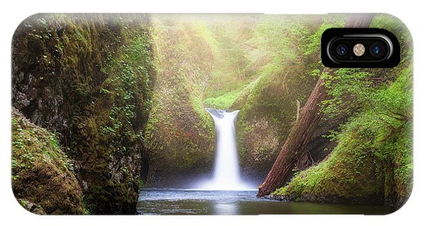 iPhone Case - Sun Beams Over Punch Bowl Falls by David Gn