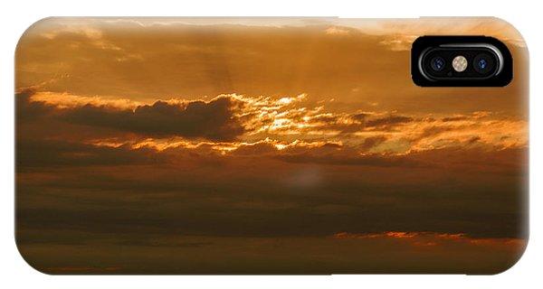 Sun Behind Dark Clouds In Vogelsberg IPhone Case