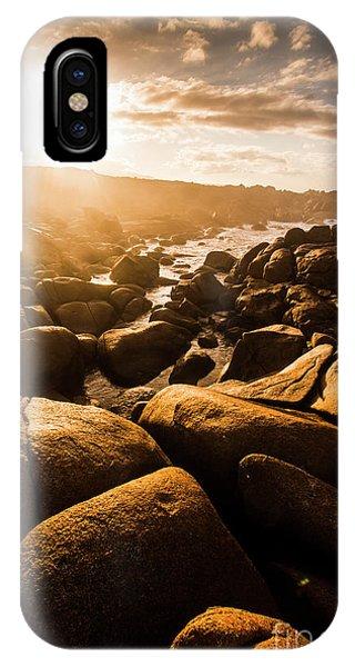 Stone Wall iPhone Case - Sun Bleached Australia Beach by Jorgo Photography - Wall Art Gallery