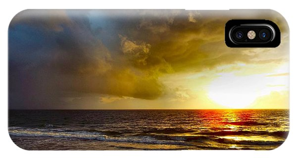 Sun Chasing The Storm Away IPhone Case