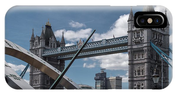 Sun Clock With Tower Bridge IPhone Case