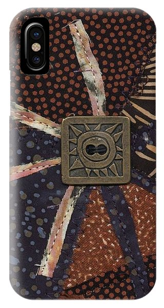 IPhone Case featuring the mixed media Sun Glyph by Linda Mae Olszanski