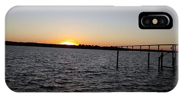 Sun Going Down Near Gov Thomas Johnson Bridge IPhone Case