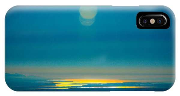 Sun Going Down On The Sound IPhone Case