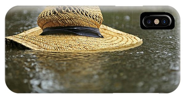 Sun Hat In The Rain IPhone Case