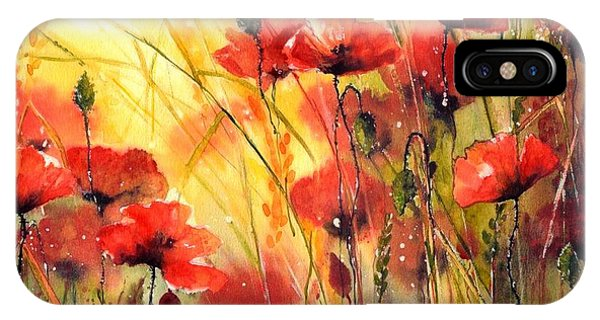 England iPhone Case - Sun Kissed Poppies by Suzann Sines