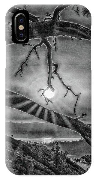 Sun Ornament - Black And White IPhone Case