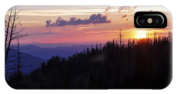 Sun Rays iPhone Case - Sun Over Cedar by Chad Dutson