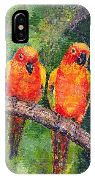 Sun Parakeets IPhone Case
