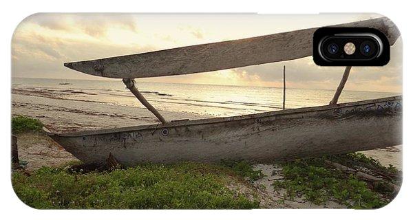 Exploramum iPhone Case - Sun Rays And Wooden Dhows by Exploramum Exploramum