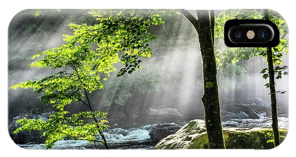 iPhone Case - Sun Rays On Williams River  by Thomas R Fletcher