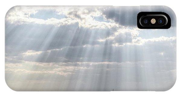 Sun Rays Over Lagoon IPhone Case