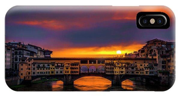 Sun Rises Over The Ponte Vecchio IPhone Case