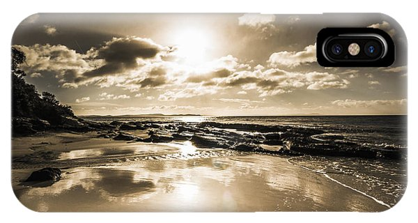 Tidal iPhone Case - Sun Sand And Sea Reflection by Jorgo Photography - Wall Art Gallery