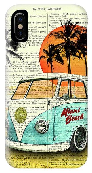 Vw iPhone Case - Sun Sea Beach And Fun by Madame Memento