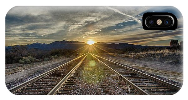 Sun Sets At The End Of The Line IPhone Case