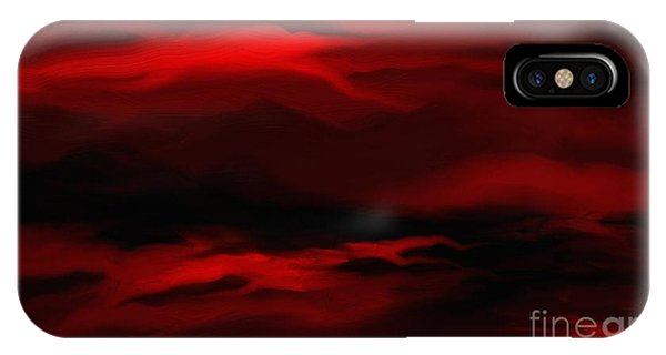 Sun Sets In Red IPhone Case