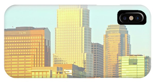 Sun Sets On Downtown Los Angeles Buildings #2 IPhone Case