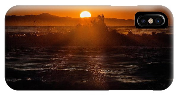Sun Setting Behind Santa Cruz Island IPhone Case