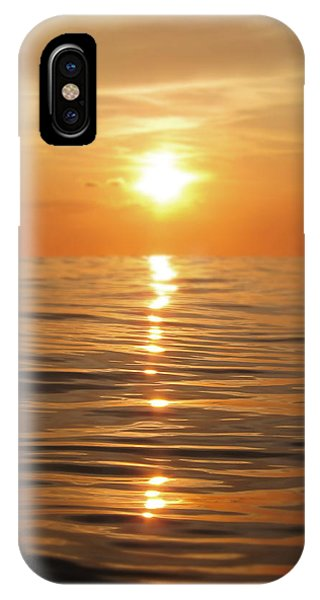 Orange Sunset iPhone Case - Sun Setting Over Calm Waters by Nicklas Gustafsson