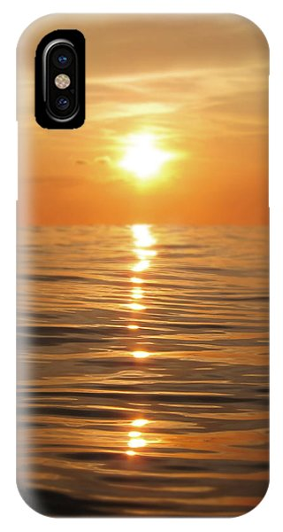 Reflection iPhone Case - Sun Setting Over Calm Waters by Nicklas Gustafsson