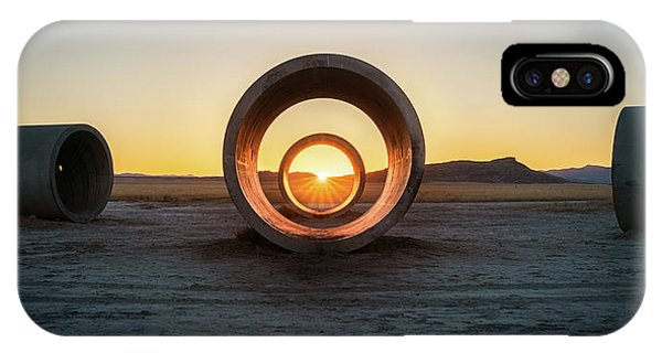 Middle Of Nowhere iPhone Case - Sun Tunnel Solstice by James Udall