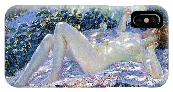 Sunbather iPhone Case - Sunbathing by Frederick Carl Frieseke