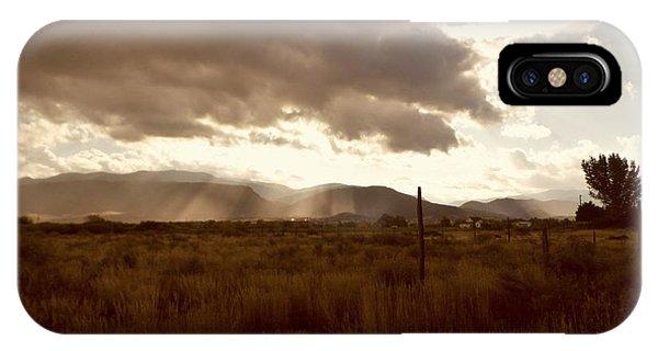 Sun Beams Over The Mountain IPhone Case