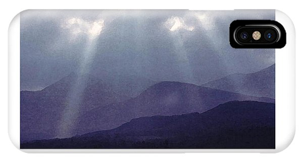 IPhone Case featuring the digital art Sunbeams Over Derwent by Julian Perry