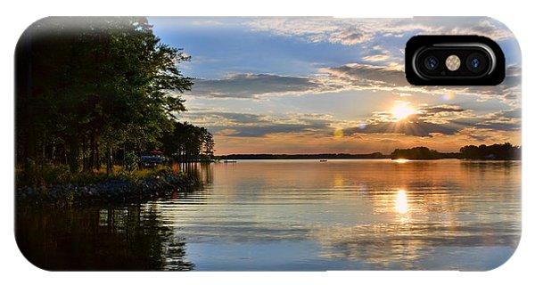 IPhone Case featuring the photograph Sunburst At Sundown by Lisa Wooten