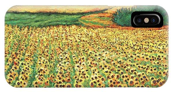 Sunflower iPhone X / XS Case - Sunburst by Johnathan Harris
