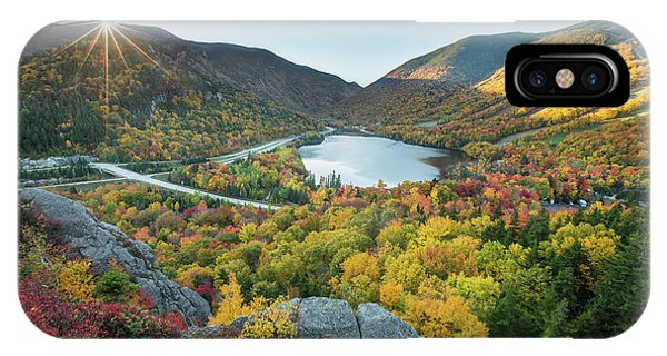 Sunburst Over Franconia Notch IPhone Case
