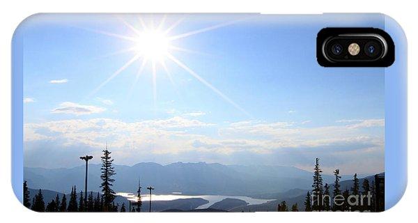 Sunburst Over Lake Dillon IPhone Case