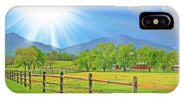 Sunburst Over Peaks Of Otter, Virginia IPhone Case