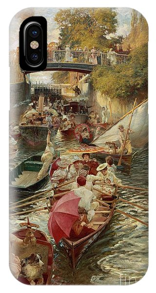 Regatta iPhone Case - Sunday Afternoon by Edward John Gregory