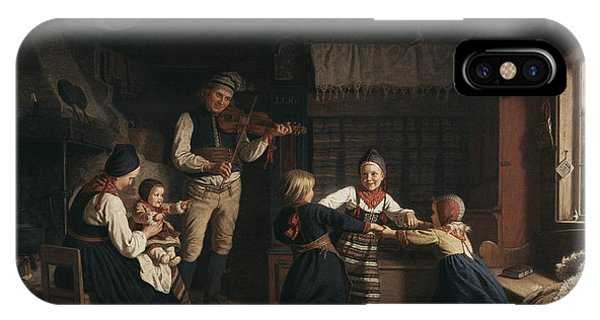 Swedish Painters iPhone Case - Sunday Evening In A Farmhouse In Dalecarlia by Amalia Lindegren