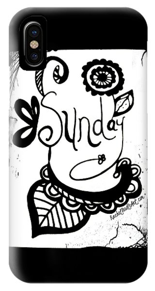 IPhone Case featuring the drawing Sunday by Rachel Maynard