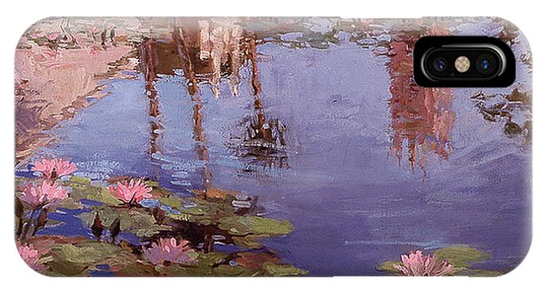 Betty Billups iPhone Case - Sunday Reflections - Water Lilies by Betty Jean Billups