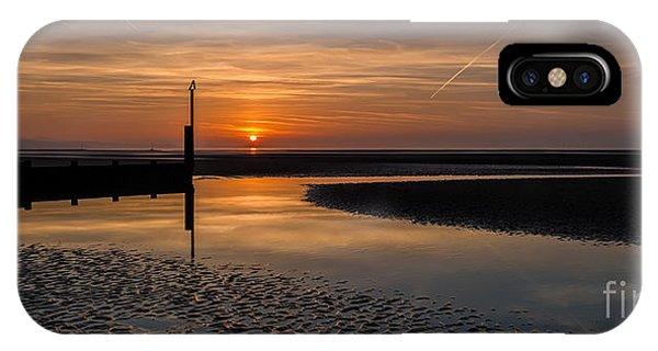Tidal Waves iPhone Case - Sundown by Adrian Evans