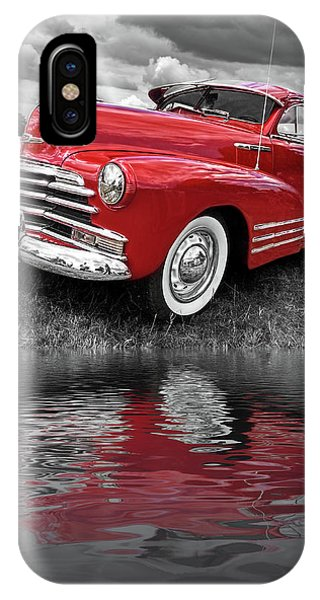 Sundown By The Lake - 1948 Red Chevy IPhone Case
