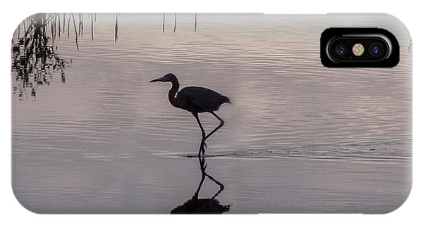Sundown Heron Silhouette IPhone Case
